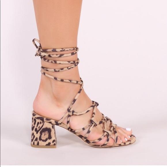 aac4df6bf0 Public Desire Shoes | Freya Block Heel Sandal In Leopard | Poshmark